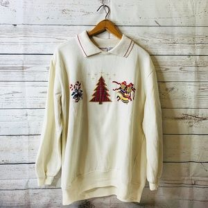 VINTAGE CREAM CHRISTMAS SWEATSHIRT